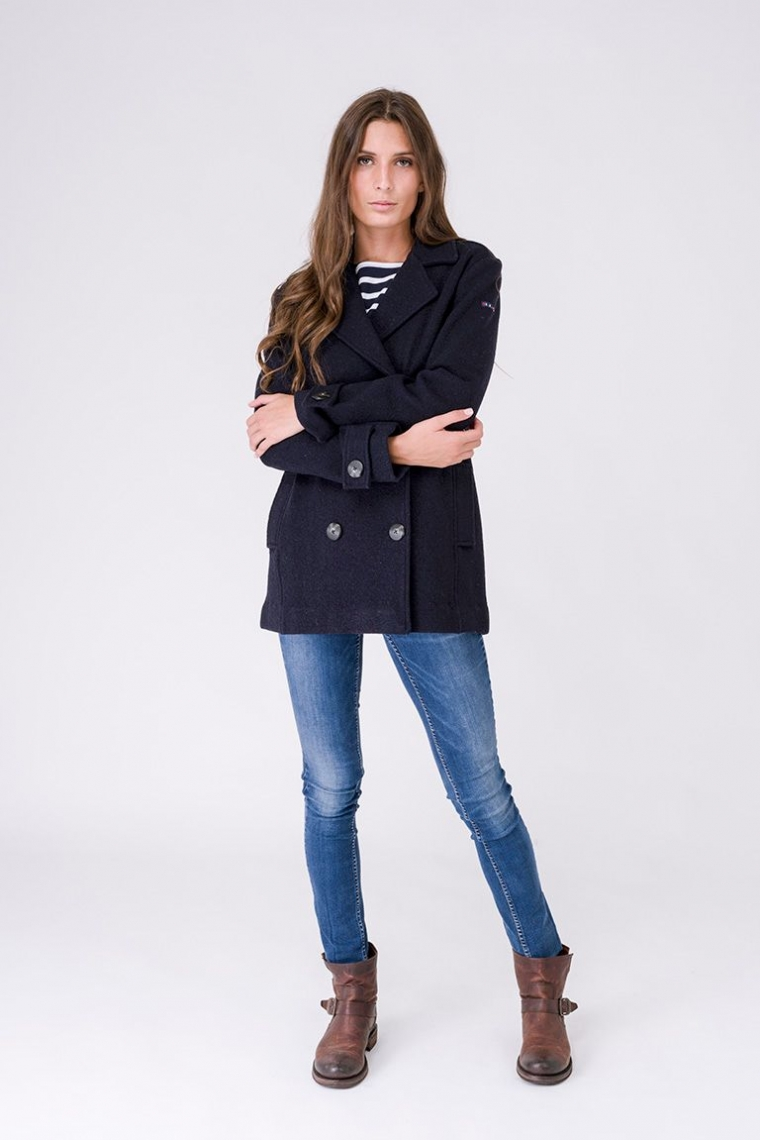 A2263 Double-breasted pea jacket