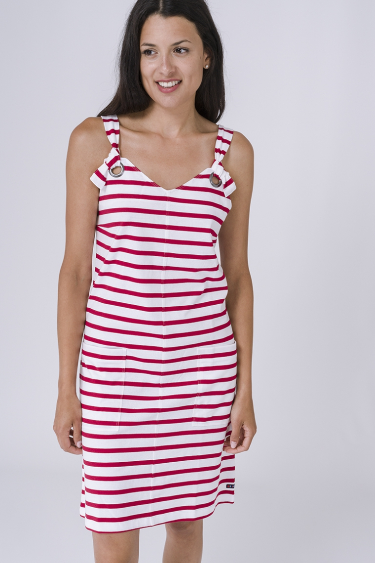 Sailor dress with straps
