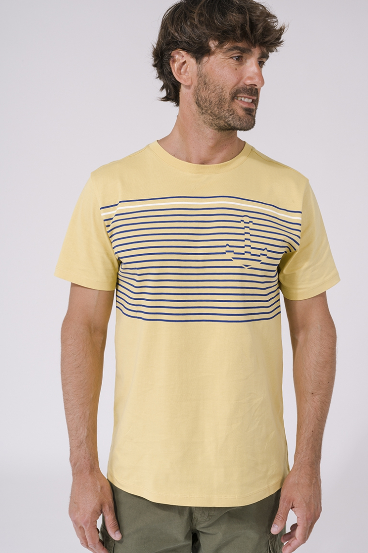 T-shirt rayures et ancre