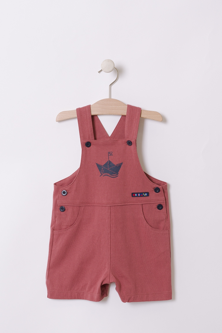 Navy overall with a ship