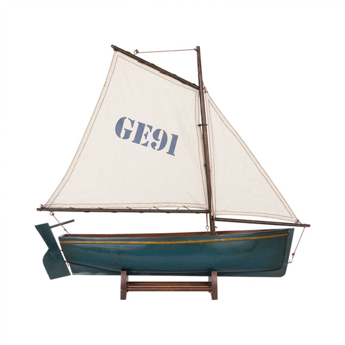 Sailing Dingy in Sea Green