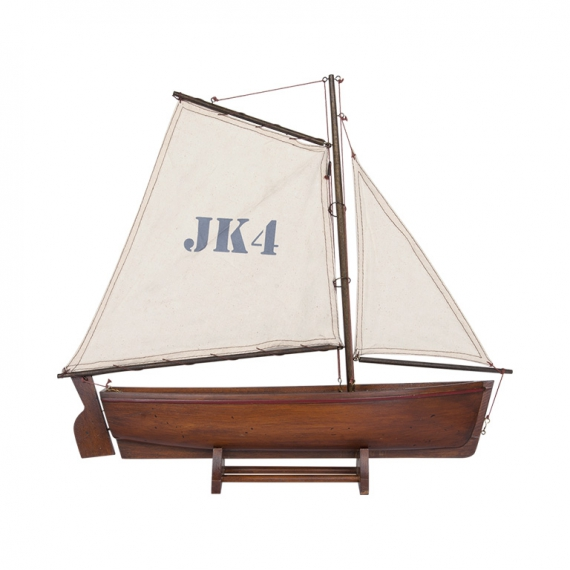 Sailing Dingy in Brown