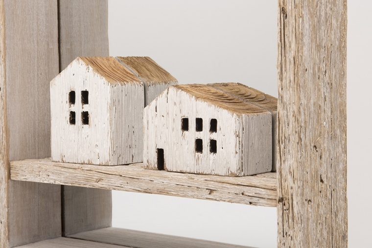 Mirror with little houses