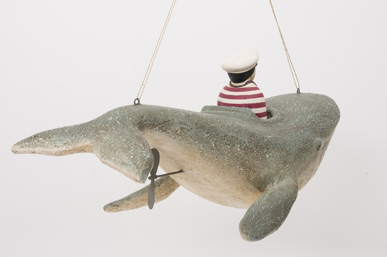 Whale with pilot