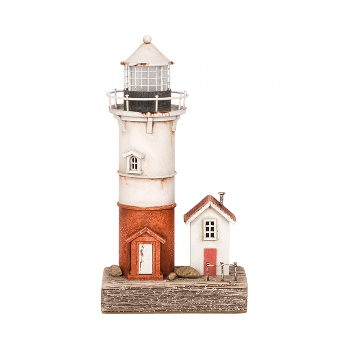 Resin lighthouse with LED