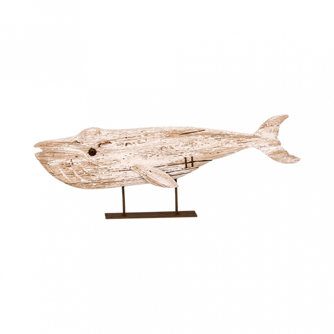 Wooden fish with base