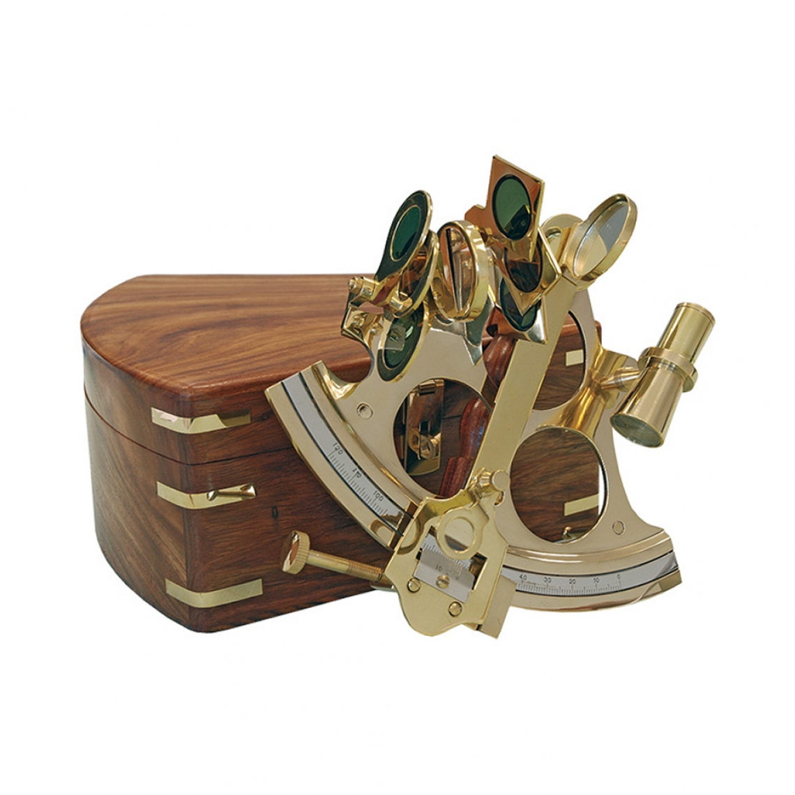 Sextant in Brass with a Wooden Box