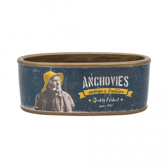 Cement can 'Anchovies'