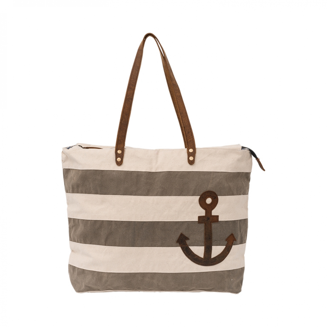 Striped and anchor bag