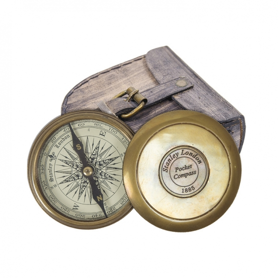 Compass with Leather Case