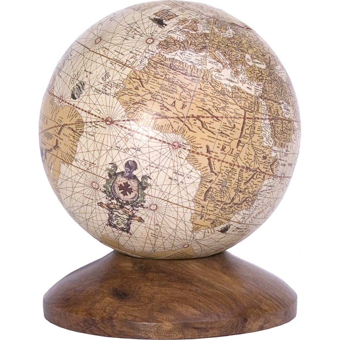 Globe with Wooden Stand